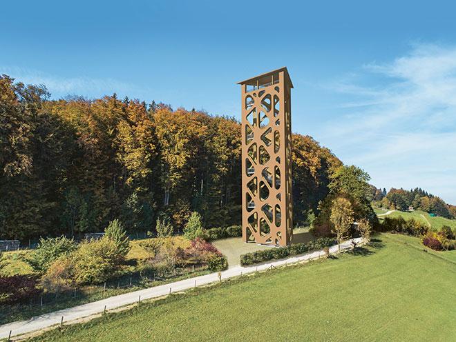 Sterntour zum neuen Hasenbergturm